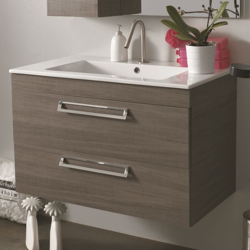 Xilon lavabo con mobile sospeso icaro - Lavabo sospeso con mobile ...