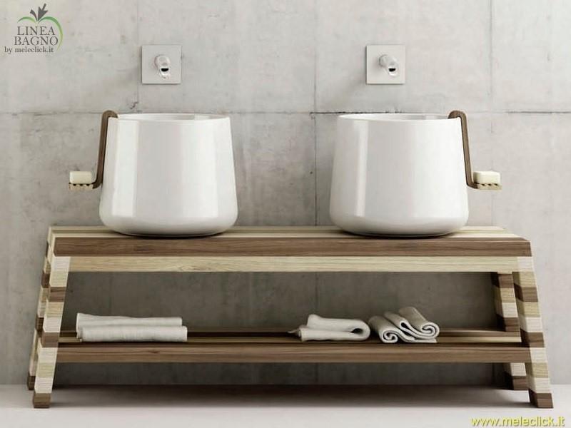 Panca per lavabo d appoggio disegno ceramica vendita on line