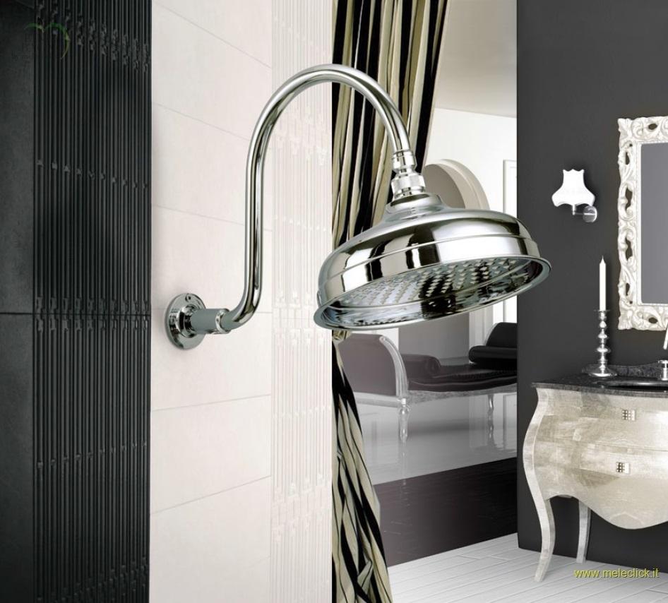 Soffione retr in ottone per doccia gaboli fratelli - Rubinetteria retro bagno ...