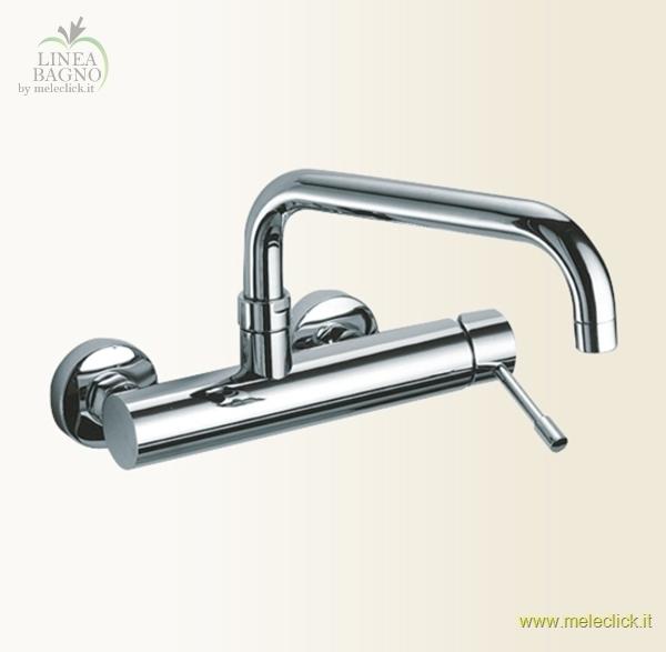 Miscelatore per lavello a parete cod 2220 gaboli fratelli rubinetteria vendita on line - Rubinetto a parete bagno ...